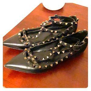 Valentino Shoes - Valentino garavani rockstud leather flats